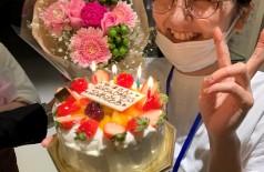 社長からお誕生日に花束が!!!??